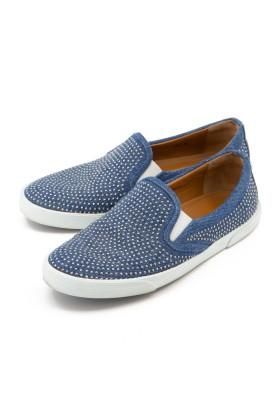 JIMMY CHOO Sneakers Slip-in Jeans Denim blau Gr. 37.5. Sehr guter Zustand