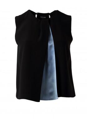 Giorgio Armani sleeveless Bluse schwarz