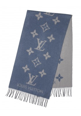 Louis Vuitton Cashmere Schal hellblau