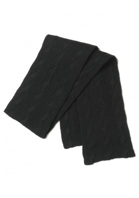 Ralph Lauren Strickschal schwarz schmal