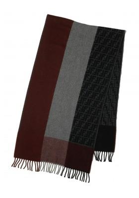 Fendi Schal rot-grau