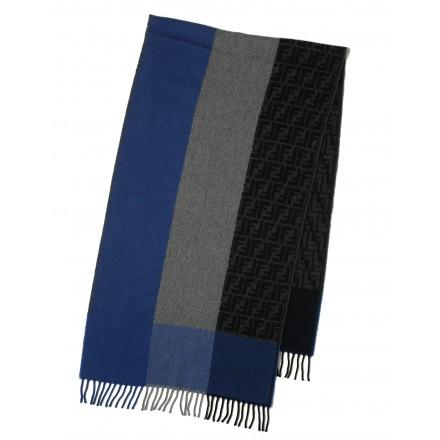 Fendi Schal blau-grau