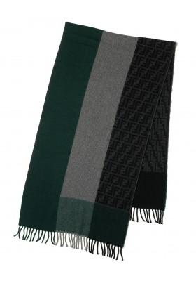 Fendi Schal grün-grau