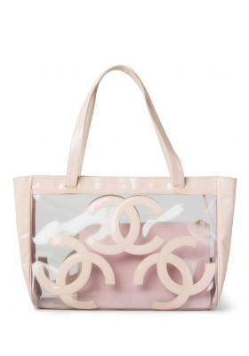 Chanel Vinyl Beach Bag Strandtasche