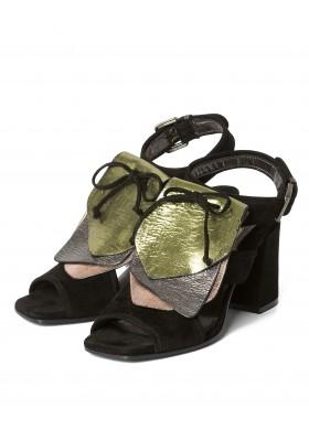 Wildleder Sandaletten schwarz