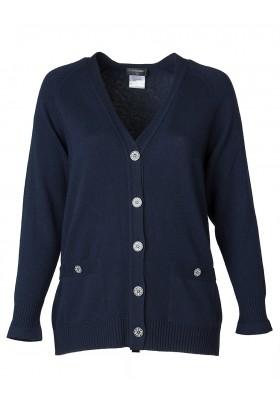Chanel Cardigan blau