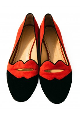 Charlotte Olympia Ballerina Schuhe Bisoux