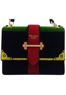 Prada 1BA134 Chaier Handbag Velvet