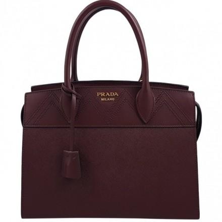 Prada 1BA046 Saffiano City Granato Handbag