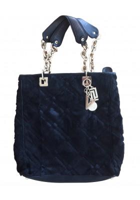 Versace Handtasche schwer mit Ponyfell
