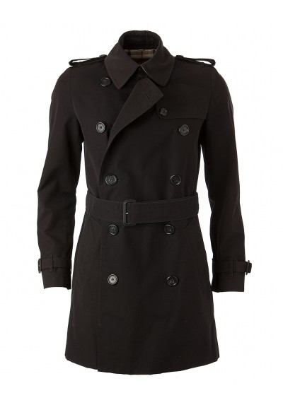 BURBERRY Trenchcoat schwarz. Gr. 34. Secondhand. OUTLET-SALE dd3a93f05a