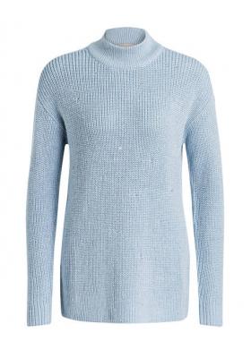 MICHAEL KORS Strick Pullover hellblau Ziersteine