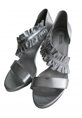 MICHAEL KORS Sandaletten High Heels silber