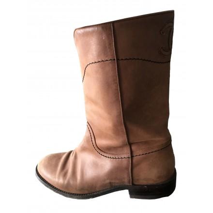 Chanel Boots Stiefeletten Gr. 37