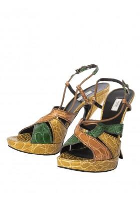 Prada Croco Sandaletten