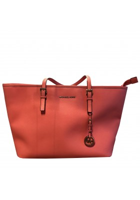 Michael KORS Jet Set Travel Shopping bag. Coral. NEU.