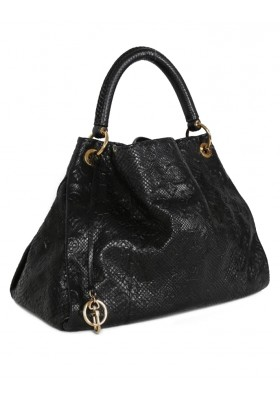 Louis Vuitton Artsy MM Python Leather Noir